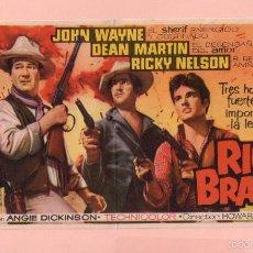 Cine: CINE RIO BRAVO CON JOHN WAYNE Y DEAN MARTIN CINE KURSAAL DE REUS . Lote 60705771