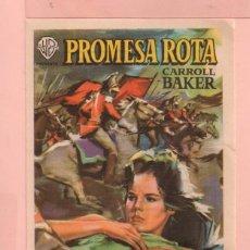Cine: CINE PROMESA ROTA CON CARROLL BAKER Y ROGER MOORE CINE FORTUNY DE REUS. Lote 60706407