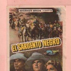 Cine: CINE EL SARGENTO NEGRO CON JEFFREY HUNTER Y CONSTANCE TOWERS CINE MONTERROSA DE REUS. Lote 60707283