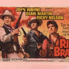 Cine: CINE RÍO BRAVO CON JOHN WAYNE Y DEAN MARTIN CINE SALA REUS DE REUS . Lote 60707555
