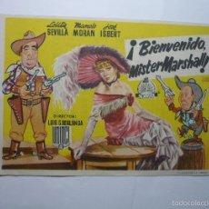 Cine: PROGRAMA BIENVENIDO MISTER MARSHALL ¡ - LOLITA SEVILLA -PUBLICIDAD. Lote 245129825