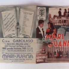 Cine: MARI JUANA - PROGRAMA DE MANO DOBLE (CON PUBLICIDAD). Lote 60770799