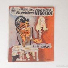Cine: UN HOMBRE DE NEGOCIOS - FOLLETO DE MANO DOBLE (1946) CINE IMPRESO.. Lote 60851875
