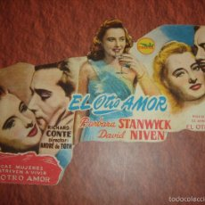 Cine: EL OTRO AMOR. BARBARA STANWYCK,DAVID NIVEN, CINE ARAMO,OVIEDO. Lote 60872099