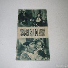 Cine: PROGRAMA DE CINE TARJETA CARTÓN *REBELDE* CON SHIRLEY TEMPLE - AÑO 1936. Lote 60890867