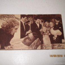 Cine: PROGRAMA DE CINE TARJETA CARTÓN *HOLLYWOOD CONQUISTADO* EN TEATRO MARIA LUISAI - AÑO 1936. Lote 60891863