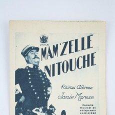Cine: ANTIGUO PROGRAMA DE CINE DOBLE - MAM'ZELLE NITOUCHE - RAIMU ALERME / JANIE MARESE - AÑO 1933. Lote 60907419