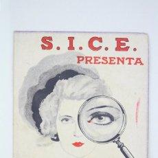 Cine: ANTIGUO PROGRAMA DE CINE DOBLE - SECRETOS DE LA POLICÍA DE PARÍS - SICE / RADIO PICTURES - AÑO 1934. Lote 60913851