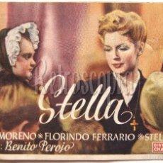 Cine: PROGRAMA SENCILLO *STELLA* 1945 ZULLY MORENO FLORINDO FERRARIO. CINE MARY LEÓN. Lote 60932799