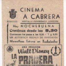Cine: ANTIGUO PROGRAMA DE CINE LOCAL DE LA PELÍCULA LA PRADERA. Lote 60987239