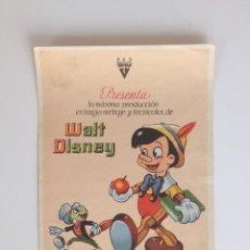 Cine: PINOCHO - PROGRAMA SENCILLO (SIN PUBLICIDAD). Lote 60988127