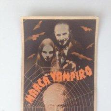 Cine: LA MARCA DEL VAMPIRO - PROGRAMA SENCILLO (CON PUBLICIDAD). Lote 60995523