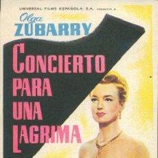 Cine: CONCIERTO PARA UNA LÁGRIMA. Lote 61107011