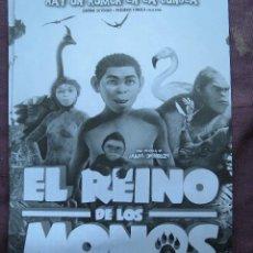 Cine: EL REINO DE LOS MONOS. Lote 135588261