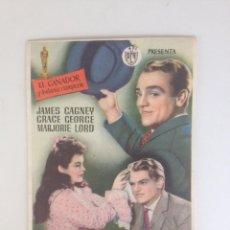 Cine: EL VAGABUNDO - JAMES CAGNEY - PROGRAMA SENCILLO SIN PUBLICIDAD. Lote 61734444