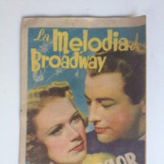 Cine: LA MELODIA DE BROADWAY, ELEANOR POWELL, ROBERT TAYLOR - PROGRAMA SENCILLO CON PUBLICIDAD. Lote 61754548