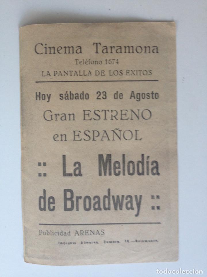 Cine: LA MELODIA DE BROADWAY, ELEANOR POWELL, ROBERT TAYLOR - PROGRAMA SENCILLO CON PUBLICIDAD - Foto 2 - 61754548