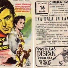 Cine: FOLLETO DE MANO UNA BALA EN EL CAMINO . CINE GOYA ZARAGOZA. Lote 61755708