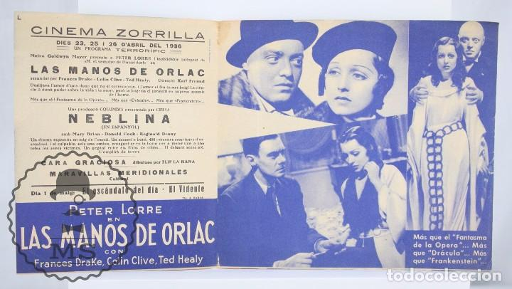 Cine: Programa de Cine Doble - Las Manos de Orlac - Peter Lorre - Metro Goldwyn Mayer, 1936 - Foto 2 - 61805836