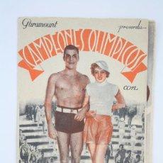 Cine: ANTIGUO PROGRAMA CINE DOBLE - CAMPEONES OLÍMPICOS - PARAMOUNT FILMS, 1935. Lote 61807948