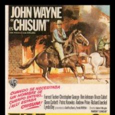 Flyers Publicitaires de films Anciens: FOLLETO DE MANO, JOHN WAYNE,ES CHISUM, . Lote 61901208