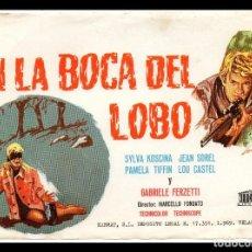 Cine: FOLLETO DE MANO, EN LA BOCA DEL LOBO, SYLVA KOSCINA.. Lote 69022710
