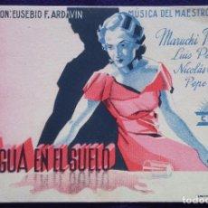 Cine: PROGRAMA DE CINE ORIGINAL.TARJETA.EL AGUA EN EL SUELO.AZI-ONA VERGARA.EUSKERA.EPOCA REPUBLICA.RENAU. Lote 62148832