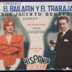 Cine: PROGRAMA DE CINE ORIGINAL. DOBLE. EL BAILARIN Y EL TRABAJADOR.. Lote 62151016