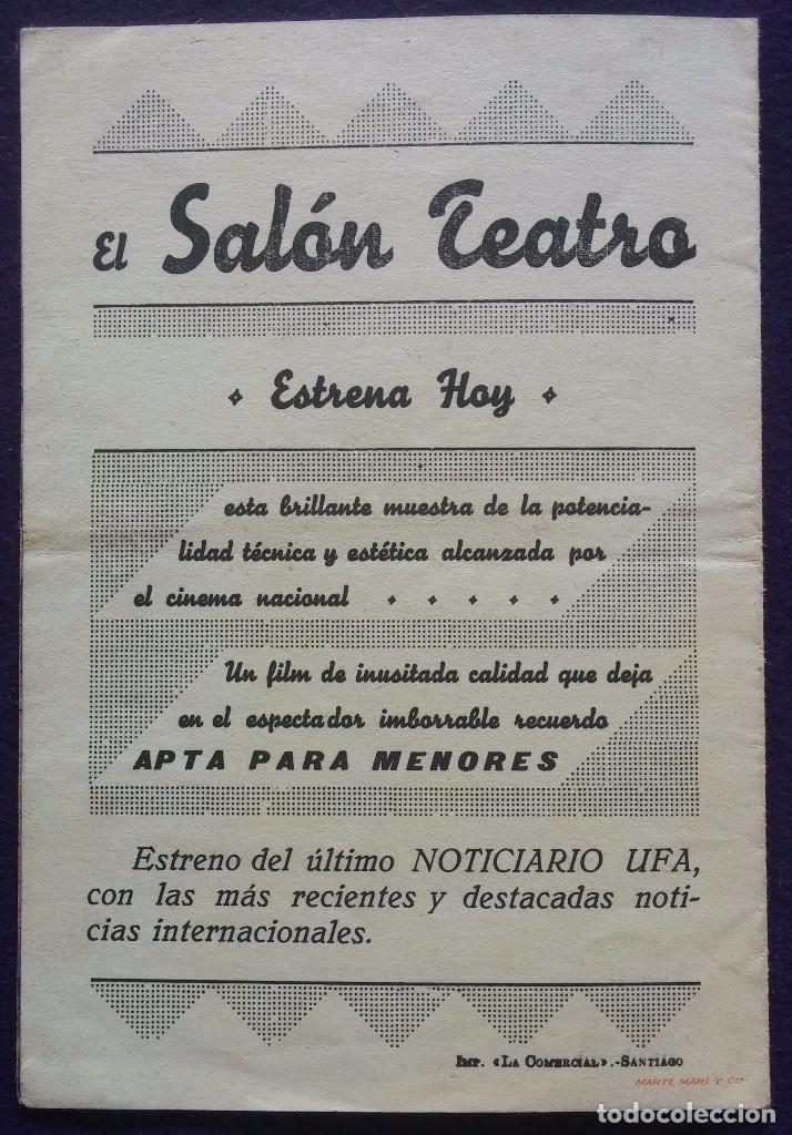 Cine: PROGRAMA DE CINE ORIGINAL. DOBLE. EL DEBER. EL SALON TEATRO. SANTIAGO. - Foto 3 - 62152320