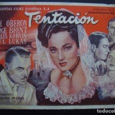 Cine: TENTACIÓN, MERLE OBERON. Lote 62201928