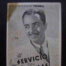 Cine: AL SERVICIO DE LAS DAMAS, WILLIAM POWELL. Lote 62203840