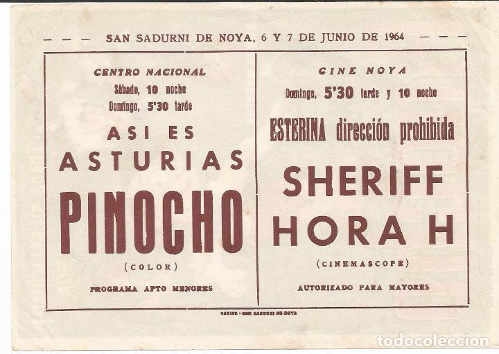 Cine: PINOCHO - SENCILLO - REY SORIA FILMS - CON PUBLICIDAD - Foto 2 - 62271772