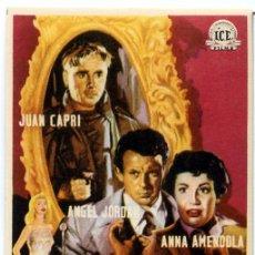 Cine: AVENIDA ROMA 66 (FOLLETO PROGRAMA DE MANO ORIGINAL CON PUBLICIDAD CINE HESPERIDES). Lote 180847448