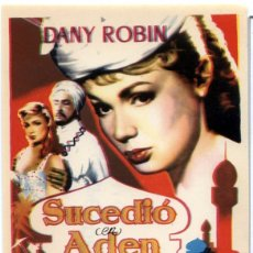 Cine: SUCEDIO EN EDEN (FOLLETO PROGRAMA DE MANO ORIGINAL CON PUBLICIDAD CINE HESPERIDES). Lote 62933079