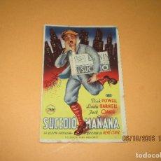 Cine: PROGRAMA DE CINE TARJETA CARTULINA * SUCEDIÓ MAÑANA * EN CINE IDEAL - AÑO 1946. Lote 62451152