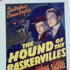 Cine: THE HOUND OF THE BASKERVILLES - 1939 - POSTER REPRODUCCIÓN - NUEVO - 40 X 30 CM. Lote 62524888