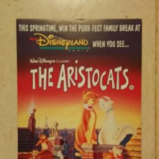 Cine: PUBLICIDAD ORIGINAL - LOS ARISTOGATOS - WALT DISNEY. Lote 62568300