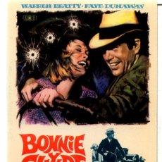 Cine: BONNIE Y CLYDE (FOLLETO PROGRAMA DE MANO ORIGINAL SIN PUBLICIDAD). Lote 294460468