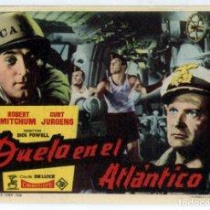 Cine: DUELO EN EL ATLÁNTICO (FOLLETO PROGRAMA DE MANO ORIGINAL CON PUBLICIDAD CINE GOYA). Lote 62602084