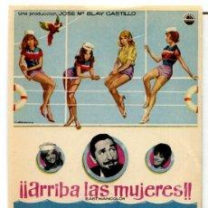 Cine: ARRIBA LAS MUJERES (FOLLETO PROGRAMA DE MANO ORIGINAL CON PUBLICIDAD CINE HESPERIDES). Lote 277624268
