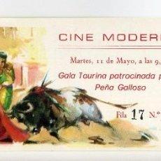 Cine: GALA TAURINA. DOCUMENTAL DE 1976. ENTRADA.. Lote 62664424
