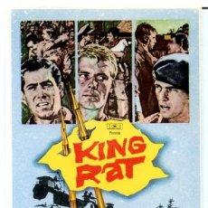Cine: KING RAT (FOLLETO PROGRAMA DE MANO ORIGINAL SIN PUBLICIDAD). Lote 62666768