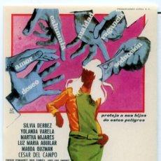 Cine: CON QUIEN ANDAN NUESTRAS HIJAS (FOLLETO PROGRAMA DE MANO ORIGINAL SIN PUBLICIDAD). Lote 68984897