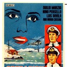 Cine: OPERACION ANTARTIDA (FOLLETO PROGRAMA DE MANO ORIGINAL SIN PUBLICIDAD). Lote 62676460