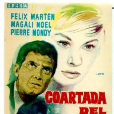Cine: COARTADA DEL SILENCIO (FOLLETO PROGRAMA DE MANO ORIGINAL SIN PUBLICIDAD). Lote 62682860