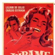 Cine: JURAME (FOLLETO PROGRAMA DE MANO ORIGINAL SIN PUBLICIDAD). Lote 67662562
