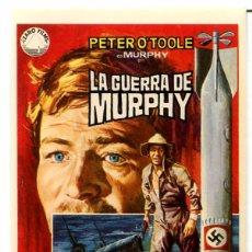 Cine: LA GUERRA DE MURPHY (FOLLETO PROGRAMA DE MANO ORIGINAL SIN PUBLICIDAD). Lote 62721508