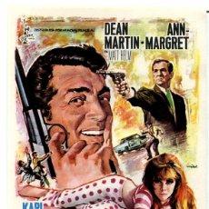 Cine: MATT HELM, AGENTE MUY ESPECIAL (FOLLETO DE MANO ORIGINAL CON PUBLICIDAD). Lote 109492995