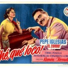 Cine: ¡CHÉ QUÉ LOCO! (FOLLETO DE MANO ORIGINAL SIN PUBLICIDAD). Lote 63454782