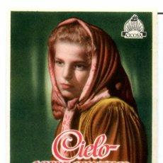 Cine: CIELO SOBRE EL PANTANO (FOLLETO DE MANO ORIGINAL SIN PUBLICIDAD). Lote 62841644